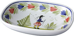 Open Butter Dish/ Soap Dish - Mistral Blue