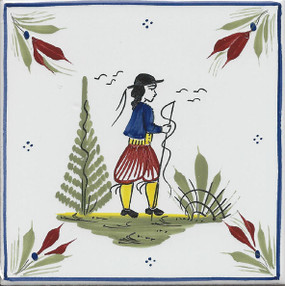 Man - Mistral Blue Tile
