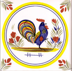 Coq - Henriot w/ Yellow Circle Tile