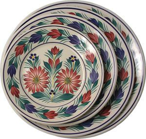 Round Plate - Fleuri Royal - Quimper