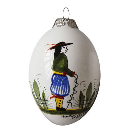 Quimper Christmas Ornament Breton Man