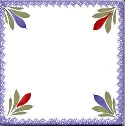 Flowers Corners - Fleuri Royal Tile Quimper
