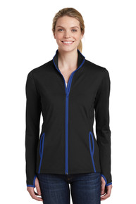 Sport-wick Stretch Contrast Full Zip Jacket