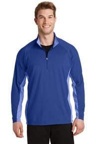 Pullover Sport-Wick Stretch Contrast 1/2 Zip
