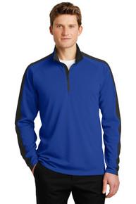 Pullover Sport-Wick Textured Colorblock 1/4 Zip