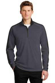 Pullover Sport-Wick Textured Colorblock 1/4 Zip NW