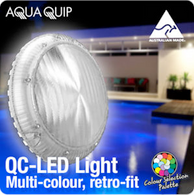 AQUAQUIP QC Replacment LED Retro Fit Multi Colour Pool Light