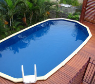 Whitsunday Oval Pool - 2.55m Wide x 1.37m Deep