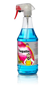 Tugalin® Glass Cleaner is a high-performance, long-lasting glass cleaner for inside and outside windows. TUGA Glass Cleaner is safe on tinted windows and it will effortlessly remove grease, nicotine stains, dust, finger prints, insect remains, dirt, and much more from glass, mirrored surfaces, metal fixtures, tiles, and other smooth surfaces leaving a streak-free finish. Tugalin leaves an invisible hydrophobic protective layer on cleaned surfaces, making it more difficult for new dirt to form, and the next clean up a breeze!  Features:  Streak Free Cleaning Easy to use Phospate Free Prevents dirt and haze buildup on interior of glass   Suitable for cleaning nearly any smooth surface Safe on both OEM and aftermarket tint