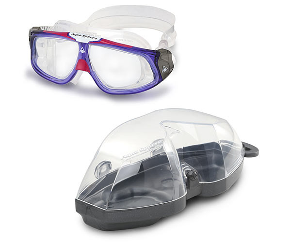 Seal 2.0 Ladies Swim Mask comes with Hard Protective Case