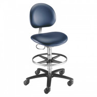 Brewer Laboratory Stool, with backrest