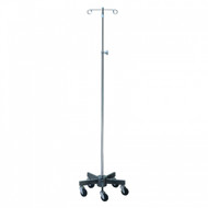 Brewer Short 5-Leg, Steel Base Infusion Pump Stand