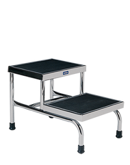 Pedigo P-18 Double Step Stool, Chrome