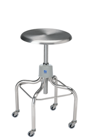 Pedigo P-1037-W/C-SS Stainless Steel Stool