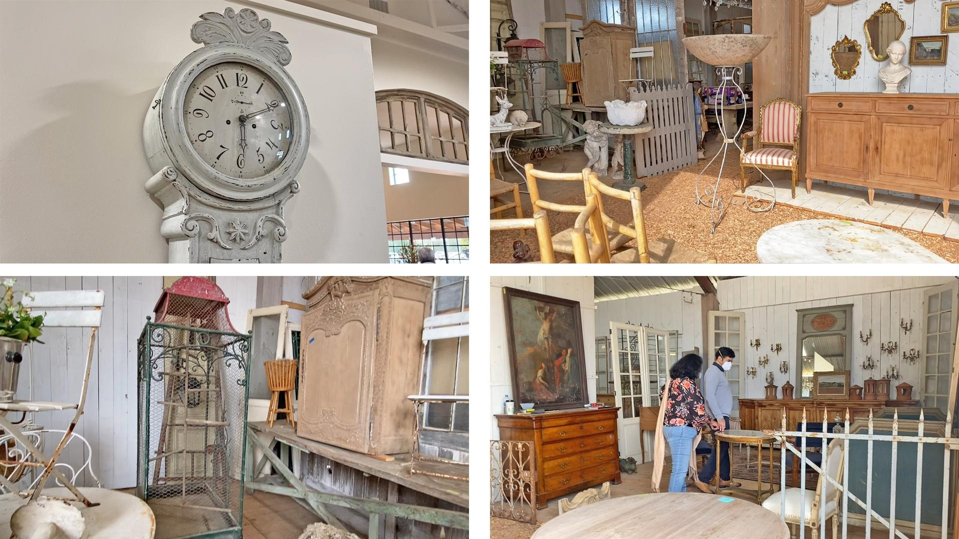 Swedish clock, iron ware, and other vintage treasures from Round Top antique fair