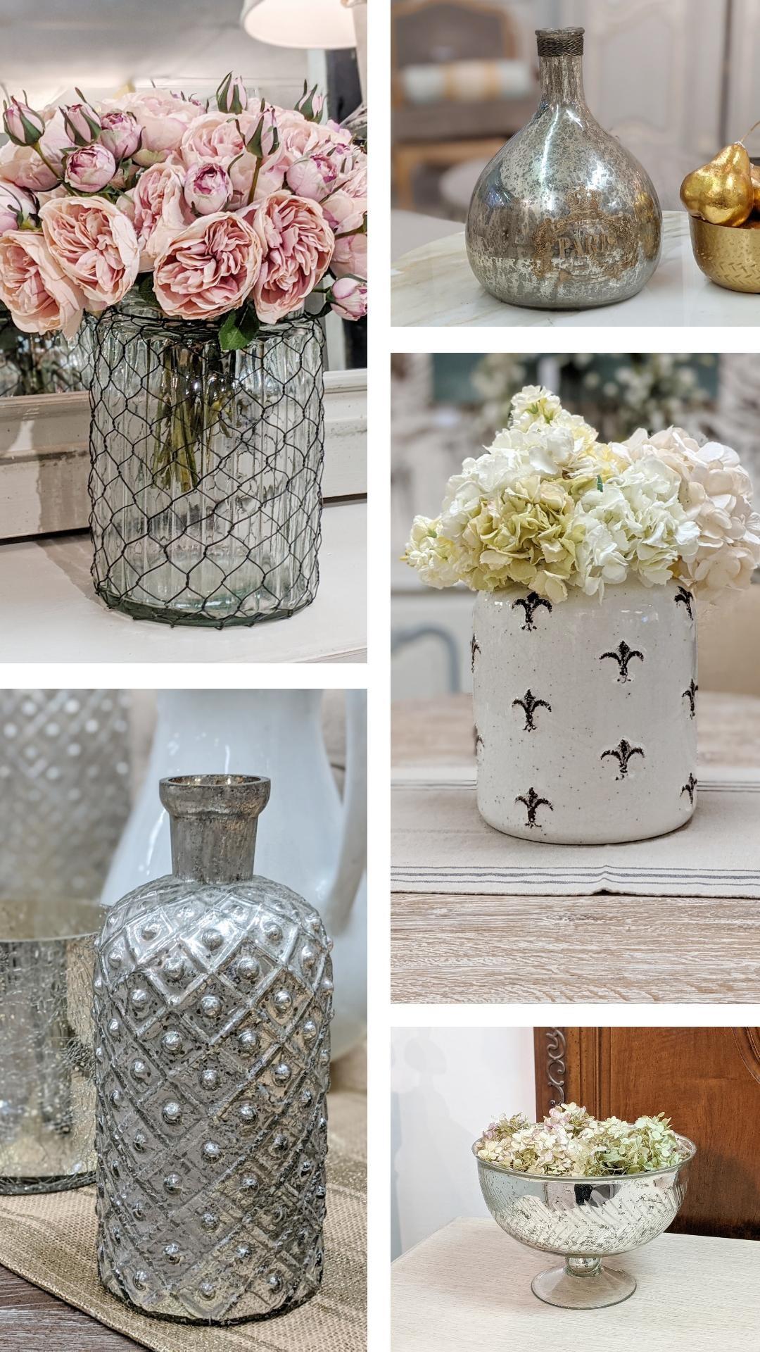 Examples of simple, elegant, floral arrangements for your farmhouse decor