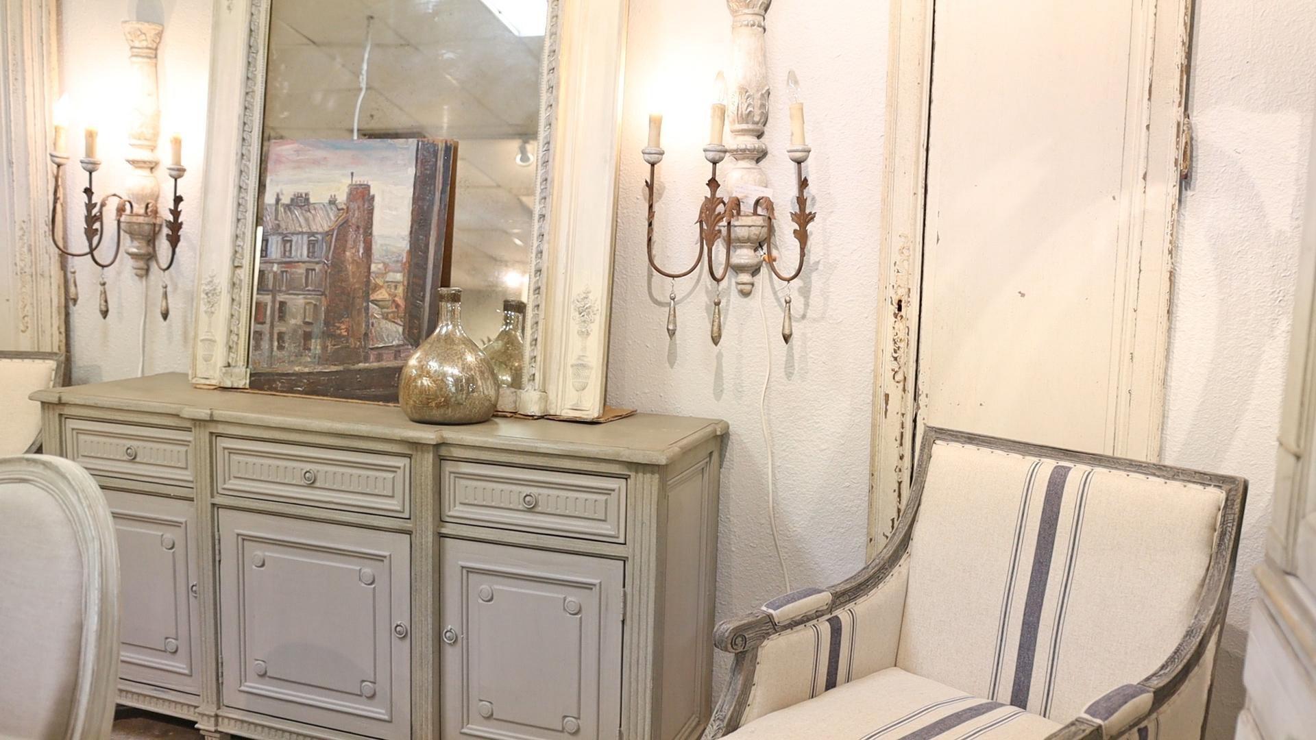 Neutral rustic colors in a showroom design