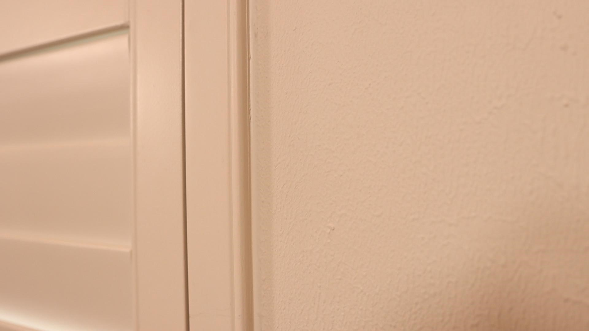 Close-up of a matte wall paint finish