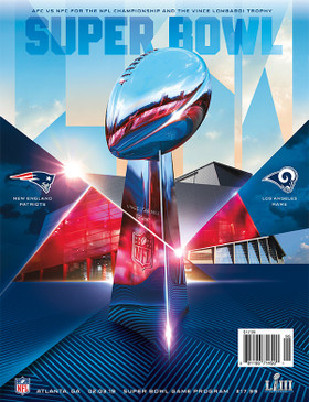OFFICIAL SUPER BOWL LIII NATIONAL PROGRAM (Patriots vs. Rams, 2019)