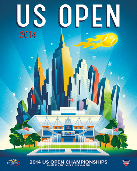 2014 US OPEN THEME POSTER