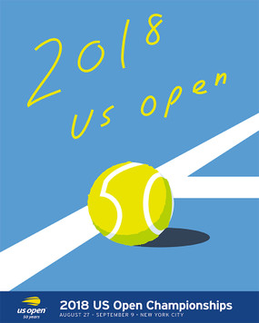2018 US OPEN THEME POSTER