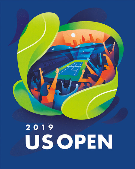 2019 US OPEN THEME POSTER