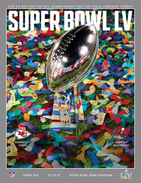 OFFICIAL SUPER BOWL LV STADIUM PROGRAM (Tampa Bay v Kansas City 2021)
