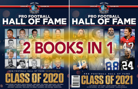 Celebrate the Class of 2020 and the Class of 2021 with this one-of-a-kind Pro Football Hall of Fame Yearbook.