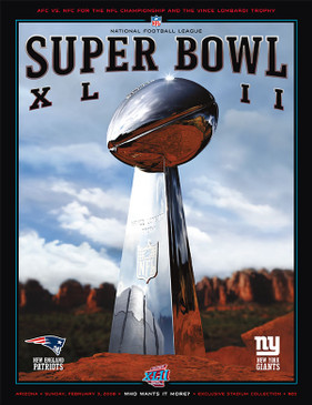 OFFICIAL SUPER BOWL 42 PROGRAM (GIANTS VS. PATRIOTS, 2008)