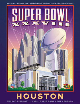 OFFICIAL SUPER BOWL 38 PROGRAM (PATRIOTS VS. PANTHERS, 2004)