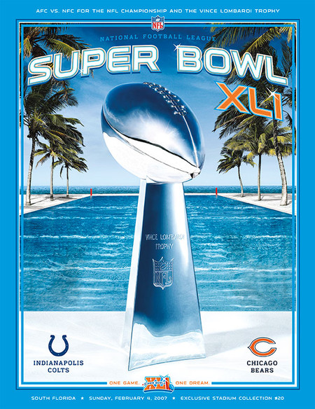 OFFICIAL SUPER BOWL 41 PROGRAM (COLTS VS. BEARS, 2007)