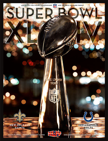 OFFICIAL SUPER BOWL 44 PROGRAM (SAINTS VS. COLTS, 2010)