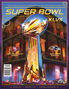 OFFICIAL SUPER BOWL 47 PROGRAM (RAVENS VS. 49ERS, 2013)