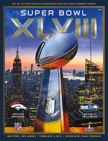 OFFICIAL SUPER BOWL 48 STADIUM PROGRAM (SEAHAWKS VS. BRONCOS, 2014)