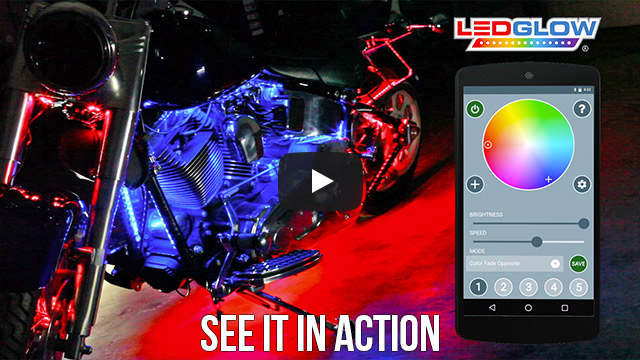 LEDGlow Smartphone Motorcycle Light Kit Product Video