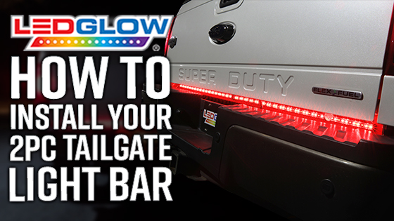 Full Size Truck Tailgate Light Bar Installation Video