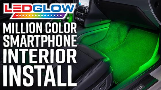 LEDGlow Smartphone Bluetooth Interior Lights