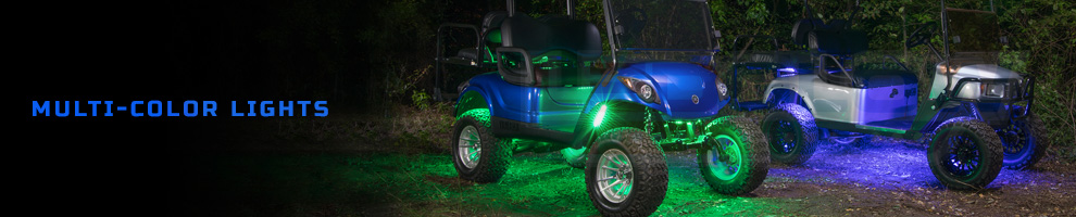 LED Multi Color Golf Cart Lights