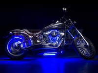 Classic Blue Motorcycle Lights