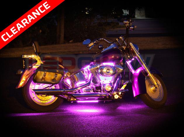 Pink Classic Led Motorcycle Light Kit
