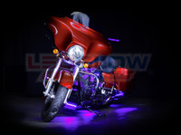 Classic Purple Motorcycle Lights