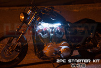 2pc Classic White Motorcycle Lighting Kit