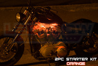 2pc Classic Orange Motorcycle Lighting Kit