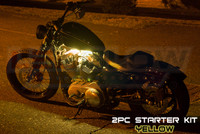 2pc Classic Yellow Motorcycle Lighting Kit