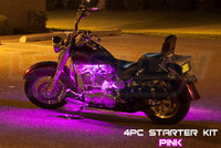 4pc Classic Pink Motorcycle Lighting Kit