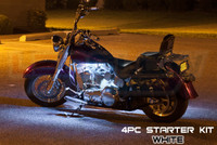 4pc Classic White Motorcycle Lighting Kit