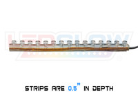 """Classic Motorcycle Strips are .5"""" in depth"""