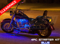 4pc Classic Blue Motorcycle Lighting Kit