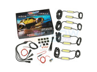 8pc COB Rock Crawl Lights, Power Wire & Mounting Accessories