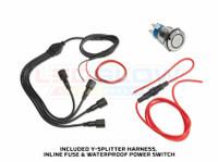 Y-Splitter Harness, Inline Fuse & Waterproof Power Switch